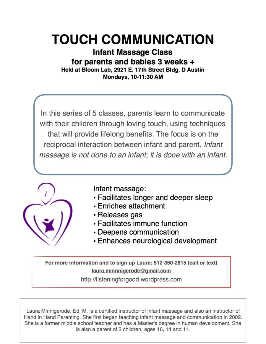 Touch Communication Class Flyer